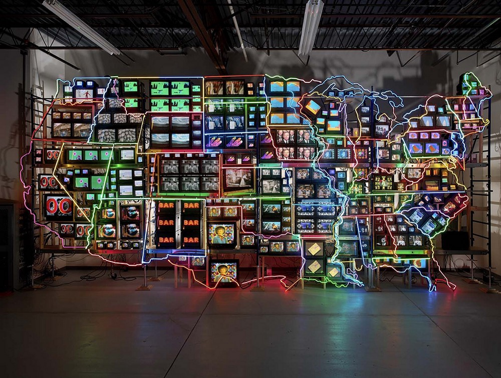 Nam June Paik, Electronic Superhighway. Continental US, Alaska & Hawaii (1995)