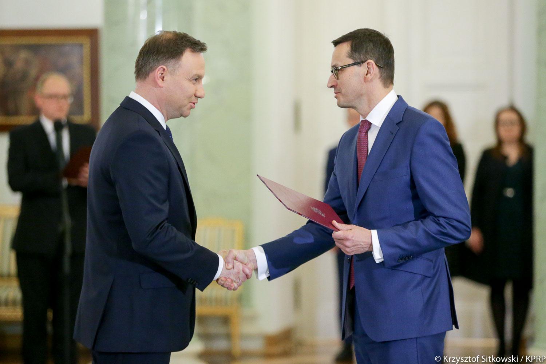A.Duda i M.Morawiecki/ źródło: prezydent.pl