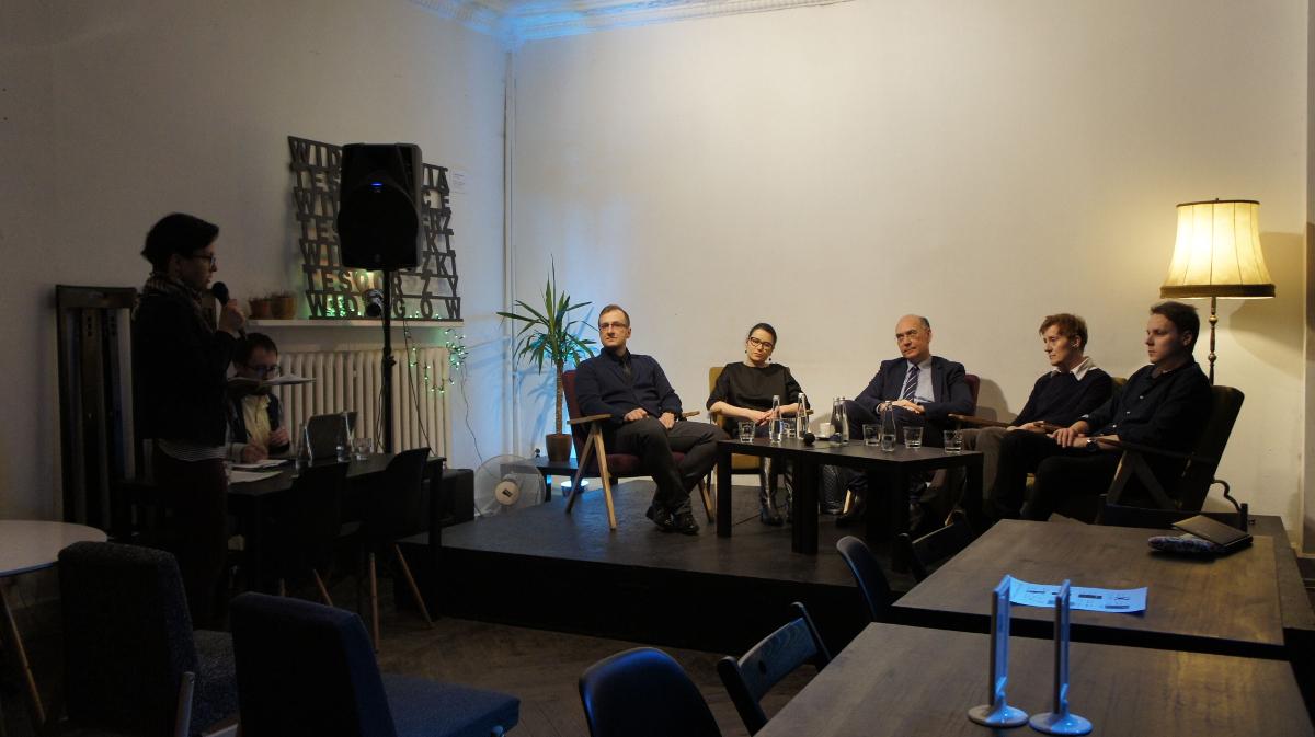 """Debata """"Wolność - produkt dla młodych"""" 3 lutego 2018, Łódź."""