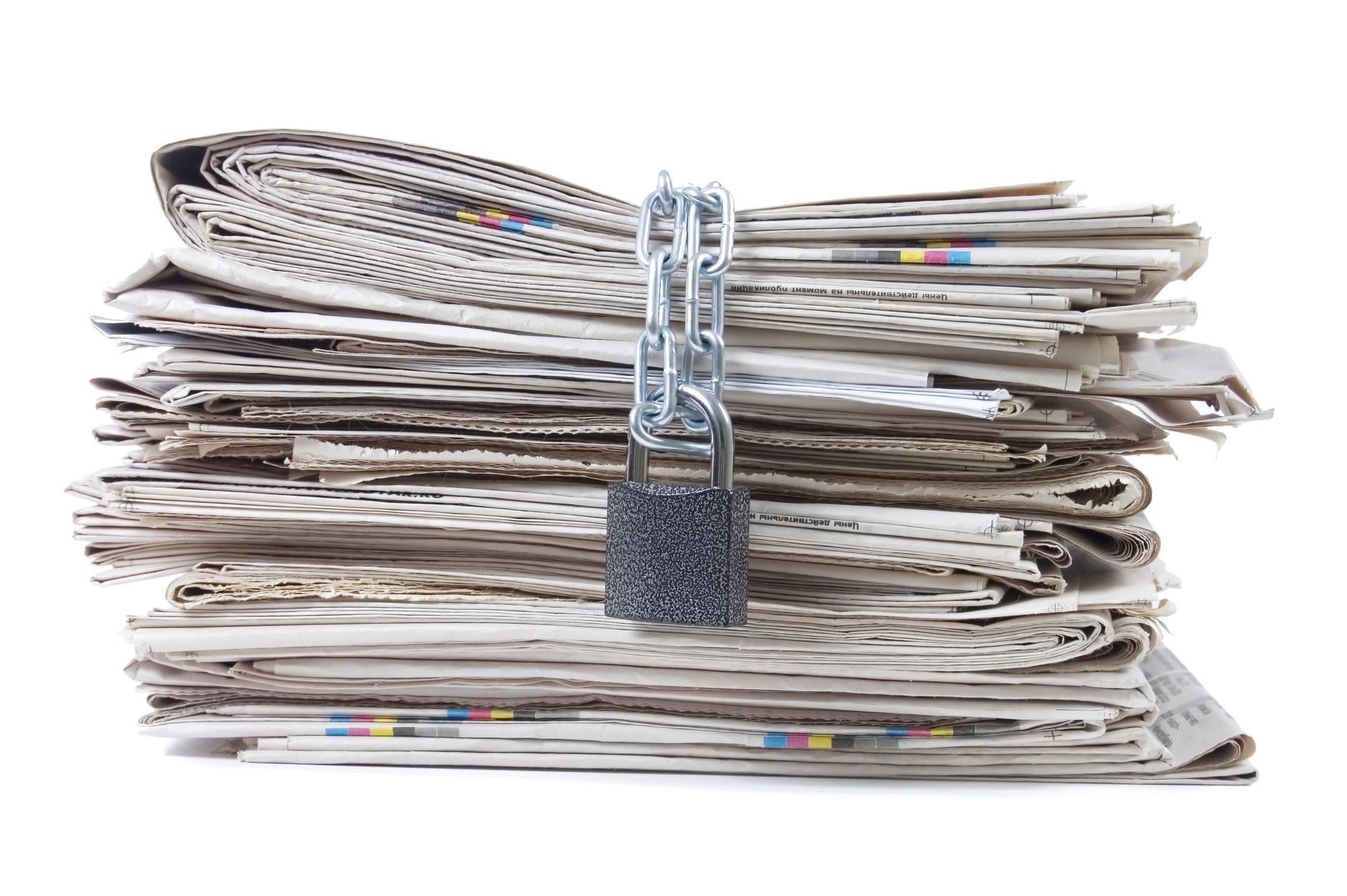 Zamknięte gazety