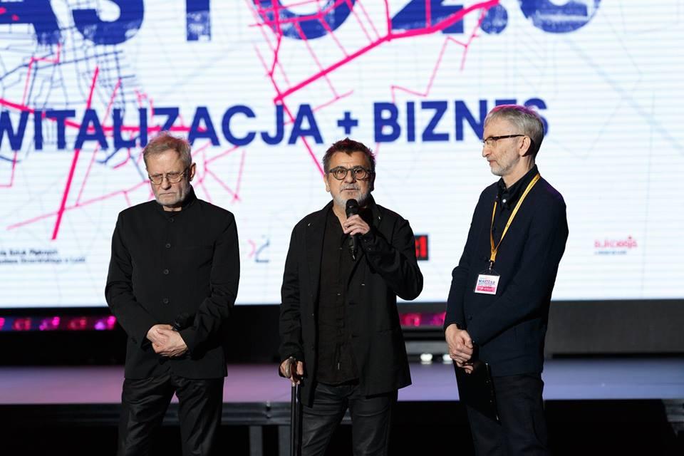 Marek Janiak, Andrzej Walczak, Andrzej Wachowicz. Źródło: facebook Akademii Sztuk Pięknych w Łodzi, Fot. Jarosław Darnowski