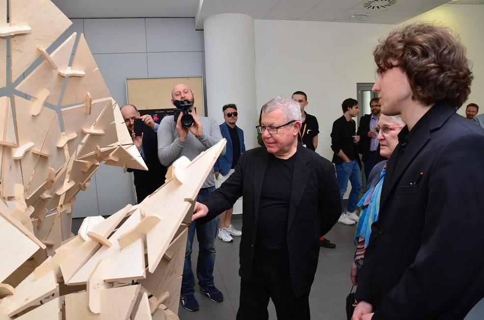 Daniel Libeskind w ASP w Łodzi, fot. EC1 Fundacja Łódzka
