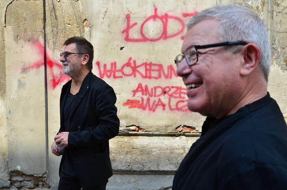 Daniel Libeskind, w tle Andrzej Walczak, jeden z pomysłodawców Specjalnej Strefy Detalu, fot. EC1 Fundacja Łódzka