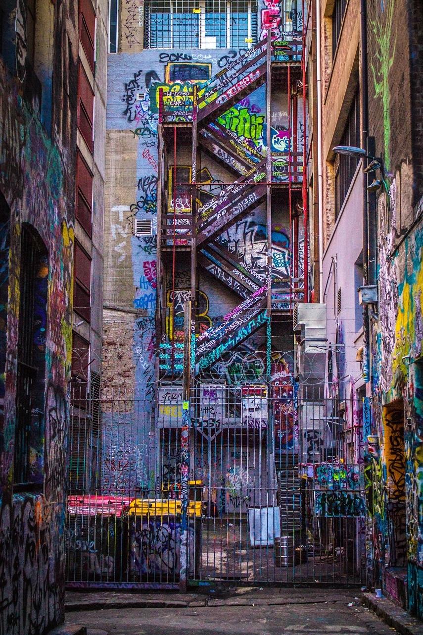 Hosier Lane, Melbourne, fot. Daria Paszkowska