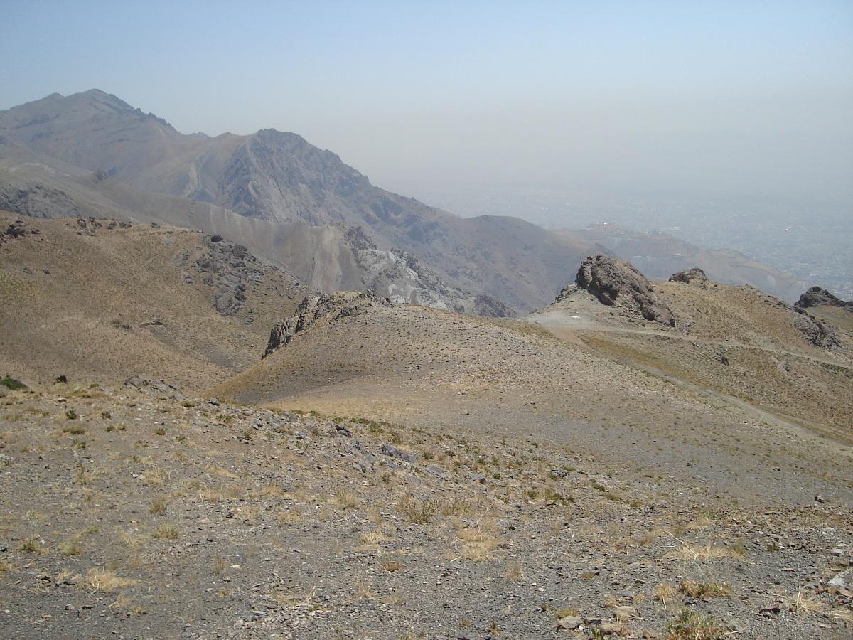 Widok na Teheran ze zboczy masywu Tochal