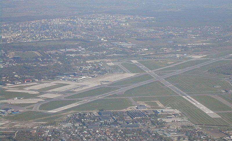 Panorama lotniska im. Chopina w Warszawie