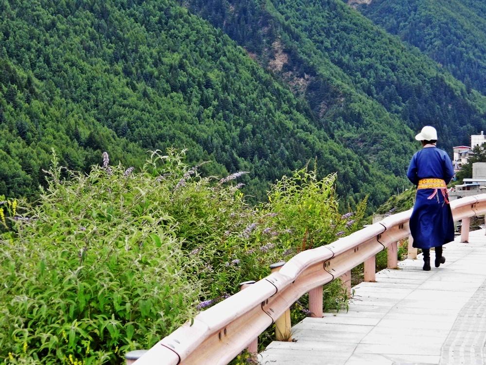 Rilong - konglomerat wiosek w pobliżu pasma górskiego Mt Siguniang
