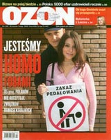 """Okładka tygodnika """"Ozon"""", którego właścicielem był Janusz Palikot"""