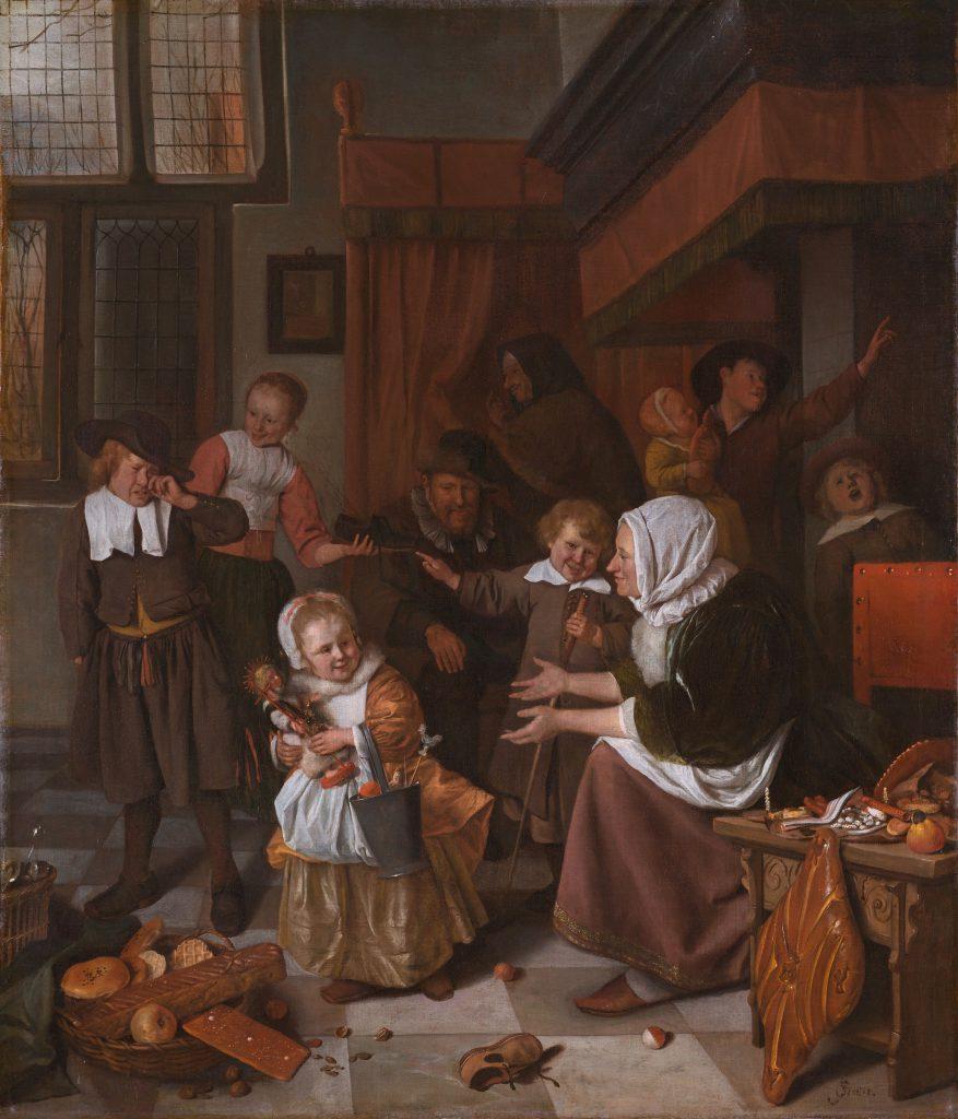 Jan Steen, Dzień Św. Mikołaja, Wikicommons