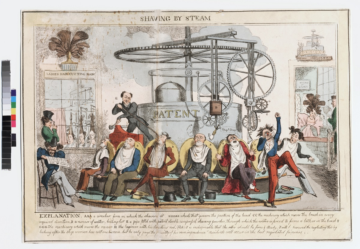 Robert Seymour, 1798-1836, Shaving by Steam